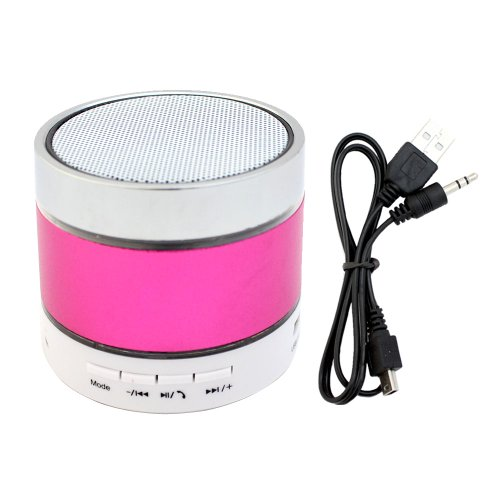 Xrexs ® Wireless Mini Portable Rechargeable Bluetooth Speaker For Ipod Iphone Ipad Android And All Bluetooth Enabled Device (Pink)