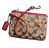 Coach Poppy Op Art Signature Hearts Wristlet Case Bag for Ipod Khaki and Red – Coach 44870KR Reviews