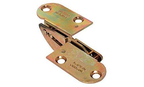GedoTec-Klappbeschlag-Klapptisch-Scharnier-Tischklappenbeschlag-klappbar-fr-Zargen-Tische-und-Bnke-fr-Plattendicke-28-mm-gelb-chromatiert-Scharnier-zum-Einlassen-Markenqualitt-fr-Ihren-Wohnbereich