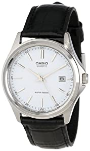 Casio Men's MTP1183E-7ACF Black Leather Dress Watch