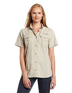 Columbia Women's Bahama Short Sleeve Fishing Shirt (Fossil, X-Small)