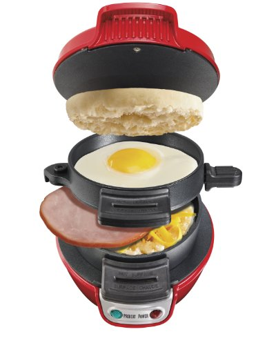 Hamilton Beach 25476 Breakfast Electric Sandwich Maker, Red front-72610