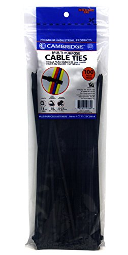 Cambridge Resources CT11-50C0W-B Cable Ties