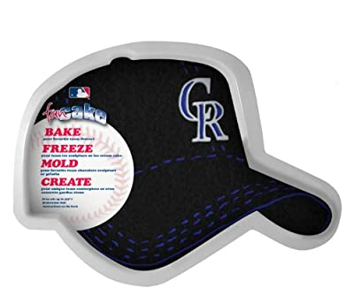 MLB Colorado Rockies Fan Cakes Heat Resistant CPET Plastic Cake Pan