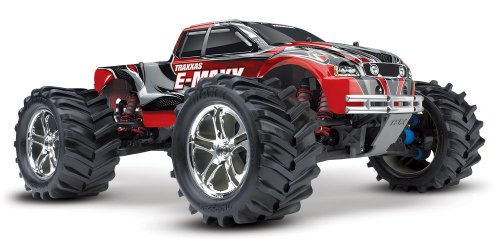 Traxxas RTR 1/10 Monster E-Maxx Brushed 2.4GHz with 2 7-Cell Batteries
