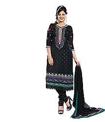 Avani Black Karachi Style Embroidery With Stone Work