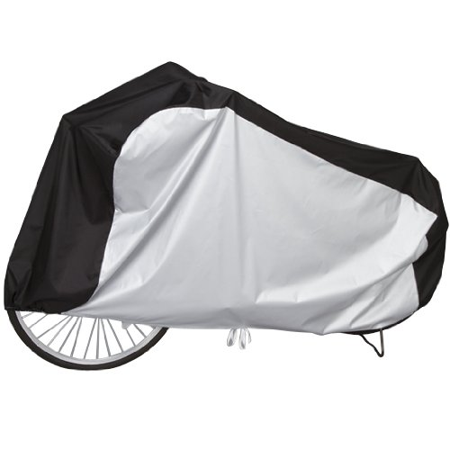 It looks refreshing! Guards from the two tone color bike cover ☆ [Center for black cycle cover] rain / wind / Doro stains! Water repellant rubber + pens, ◎ in the wind difficult to fly.