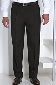 Supercrease® Active Waistband Single Pleat Trousers with Wool