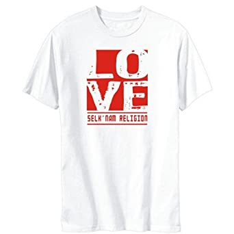 LOVE Selk'Nam Religion White T-Shirt Mens: Amazon.co.uk: Clothing
