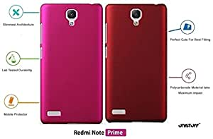 For Redmi Note Prime[COMBO OFFER]: Unistuff™ Matte Finish Hard Case Back Cover for Redmi Note Prime [SLIM FIT][FREE SHIPPING] (Pink, Red)