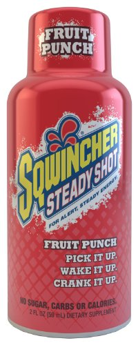 Sqwincher 200501-Fp 2 Oz Steady Shot Energy Drink, Fruit Punch Flavor (Pack Of 12)