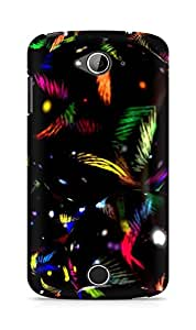 AMEZ designer printed 3d premium high quality back case cover for Acer Liquid Z530 (colourful black pattern)