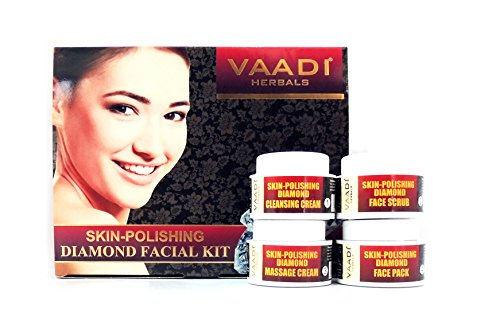 Facial Kit - Skin-polishing Diamond Facial Kit - ★ ALL Natural - ★ Suitable for All Skin Types and Both for Men and Women - ★ 70 Grams - Vaadi Herbals (Skin Polishing compare prices)