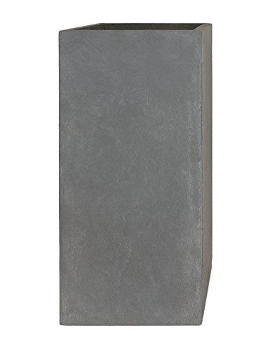 PFLANZWERK-Pflanzkbel-TOWER-Grau-50x23x23cm-Frostbestndig-UV-Schutz-Qualittsware