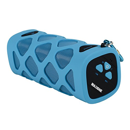 Masione™ Ms-319A Outdoor Sport Nfc Waterproof Shockproof Dust-Proof Portable Bluetooth 4.0 Speaker, 10 Watt, 2000 Mah Li-Ion Battery, Deep Bass Booster, Built In Mic, Up To 12 Hours Playtime For Iphone, Ipod, Samsung Galaxy, Nexus, Ipad, Htc, Blackberry,