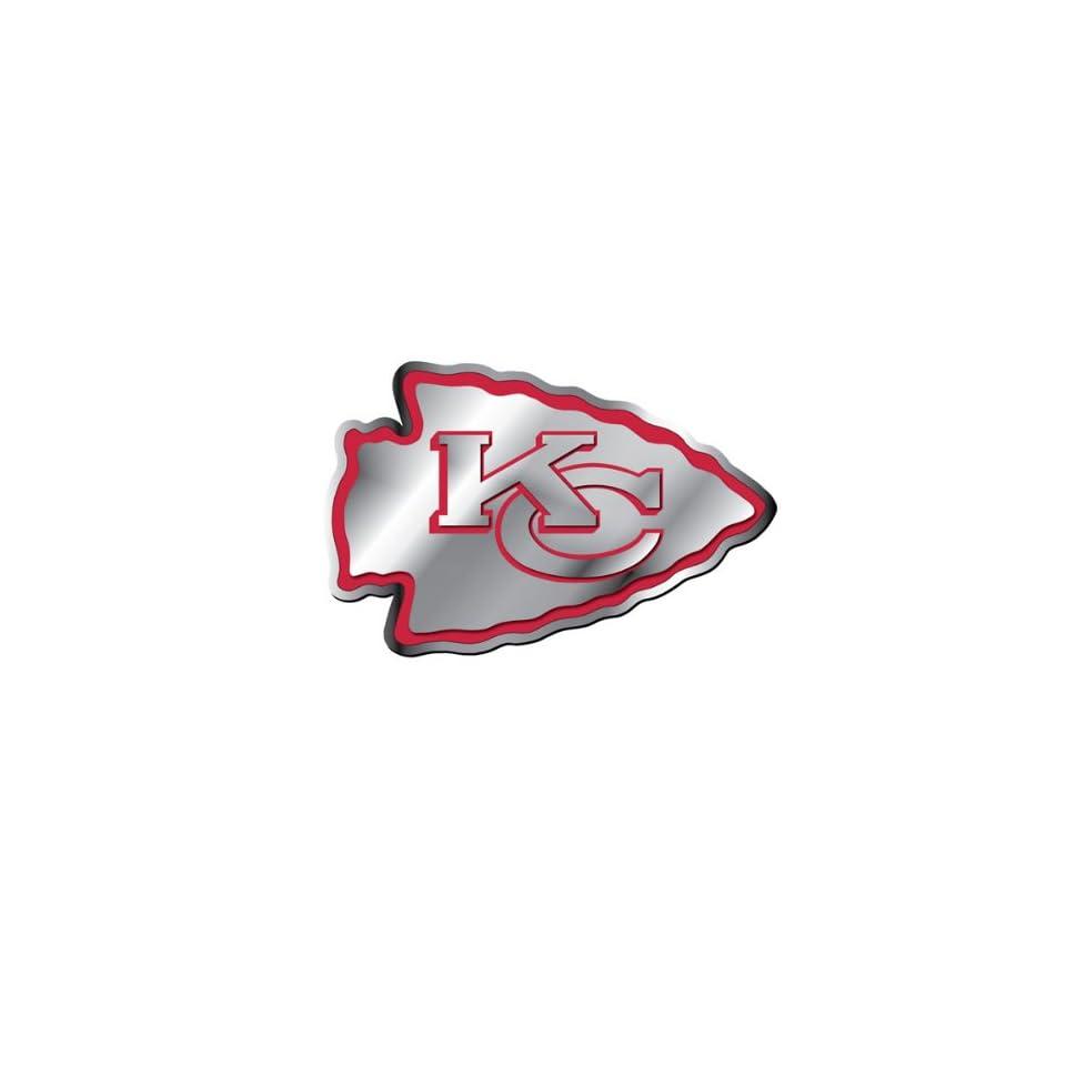 Kansas City Chiefs NFL Football Team Red & Chrome Plated Premium Metal Car Truck Motorcycle Emblem