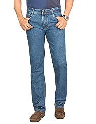 Sloper Stylish Light Blue Comfort Fit Mid Rise Denim Lycra Jeans For Men | SL1408OPT3