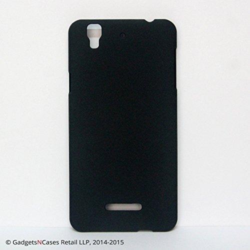 Pudini Original Quicksand Matte Finish Back Cover Case for Micromax Yu Yureka - Sand Black
