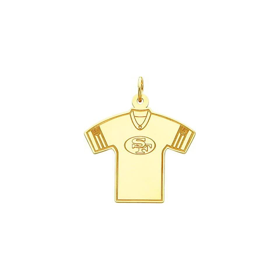 14K Gold NFL San Francisco 49Ers Football Jersey Charm