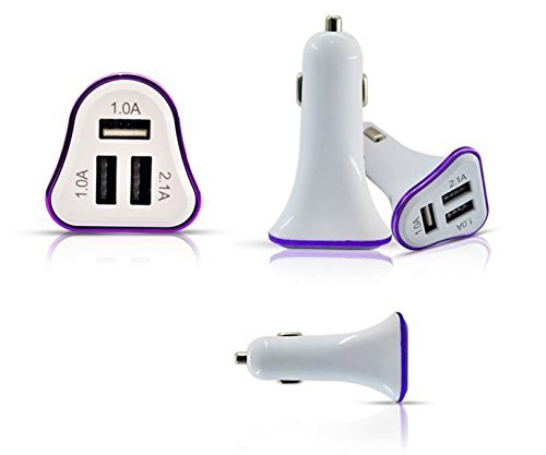 LipiWorld LIPI0412 3-Port USB Car Charger
