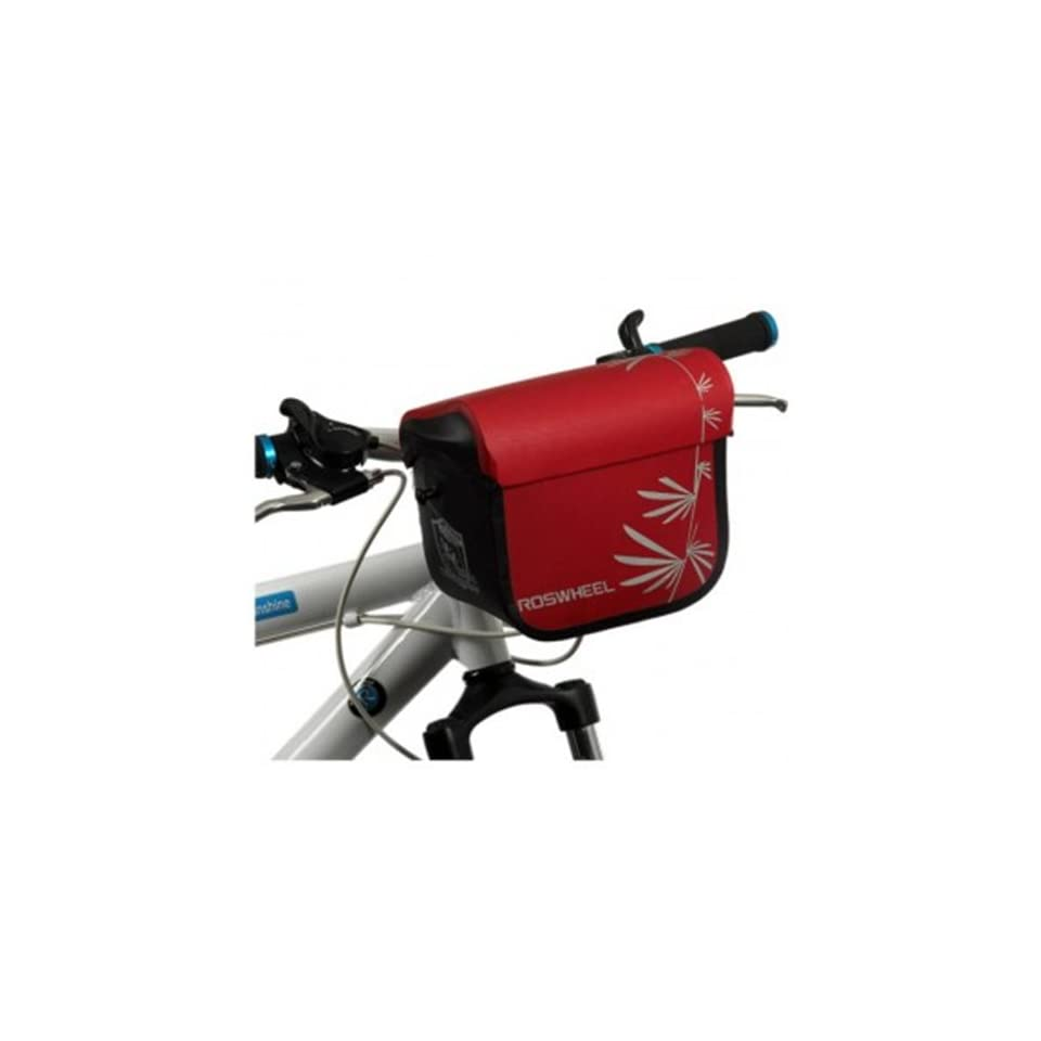 7.9inch Waterproof TPU Nylon Travelling Cycling Handlebar Camera Pack Bag Black Red