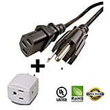 Huetron 5ft Power Cord for Vizio XV