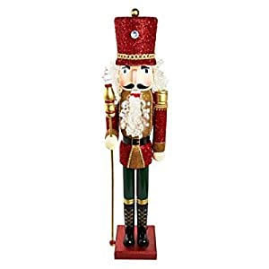 Huge red 4 foot led beaded nutcracker wood for 4 foot nutcracker decoration
