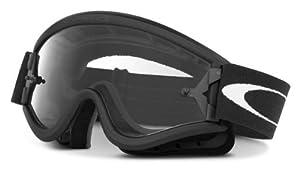 Oakley L-Frame MX Goggles (Matte Black Frame/Clear Lens, One Size)