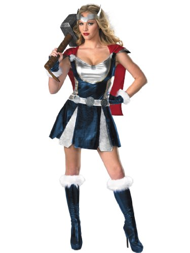 Sexy She Thor Costume Superhero Dress Boots & Gloves Womens Theatrical Costume