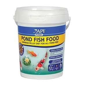 Api pond fish food 4mm pellet pet for Garden pond amazon