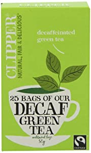 Clipper Fairtrade Decaf Green 25 Teabags (Pack of 6, Total 150 Teabags)