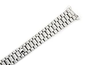 Ladies 18kw All Diamond President Watch Band for Rolex