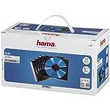 """Hama 50 Boites """"SLIM"""" vides transparentes avec fond noir pour CD simples 00051269"""