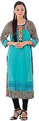 Kaashvi Creations Women's Cotton Straight Kurta (Black, XX-Large)