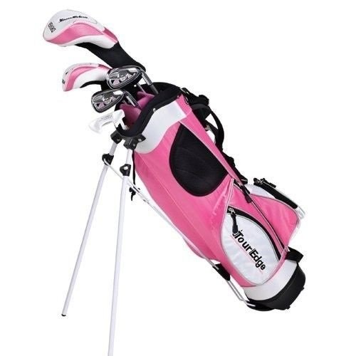 Tour Edge Ht Max-J Set (Junior'S, Ages 5-8, 5 Club Set, Right Handed, With Bag, Pink)