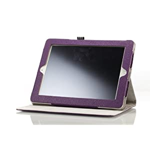 MoKo Rotating Folio Cover Case for The New iPad - Side