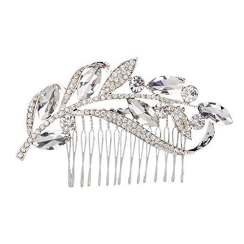 Tinksky Bridal Hair Combs Wedding Hair Pieces Hair Pin Wedding Hair Accesories