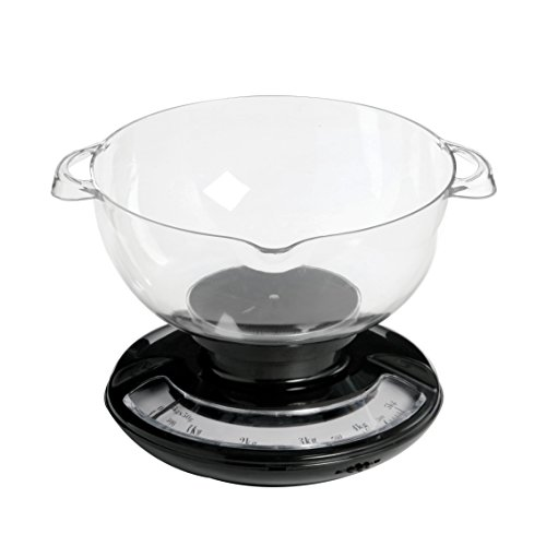 Premier Housewares Balance de cuisine avec bol Noir/transparent 5 kg