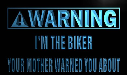 ADV PRO m940-b Warning I'm the Biker Neon Light Sign