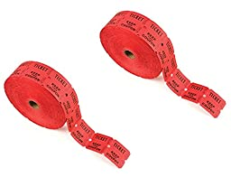 PM Company Deposit One and Keep One Ticket Roll, Red, 2000 per Roll (59003)