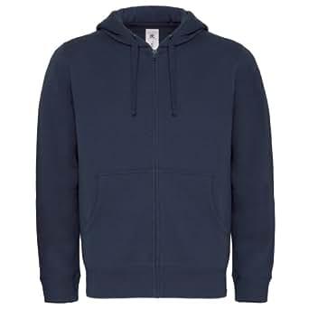 B&C - Sweatshirt à capuche et fermeture zippée - Homme (S) (Bleu marine)