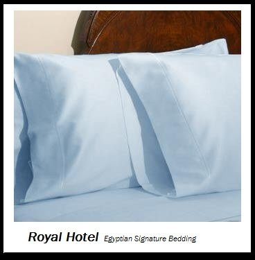 Royal Hotel's Solid Blue 1200-Thread-Count 4pc Olympic Queen Bed Sheet Set 100-Percent Egyptian Cotton, Sateen Solid, Deep Pocket, 1200 TC