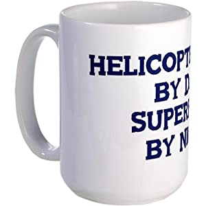 Helicopter Pilot By Day Large Mug Large Mug By Cafepress