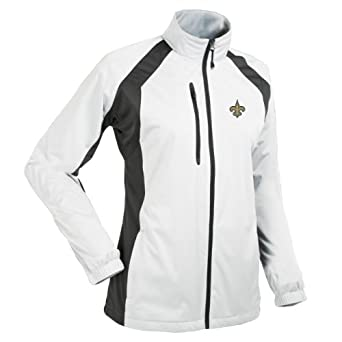 NFL Ladies New Orleans Saints Rendition Desert Dry Jacket by Antigua