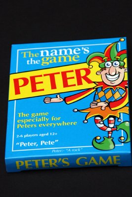 PETER'S GAME: Mens or boys stocking filler / fillers for men or boy or guy called PETER, PETE etc (also secret santa or fun birthday or christmas party present or special xmas gift / present for the man who has it all !)