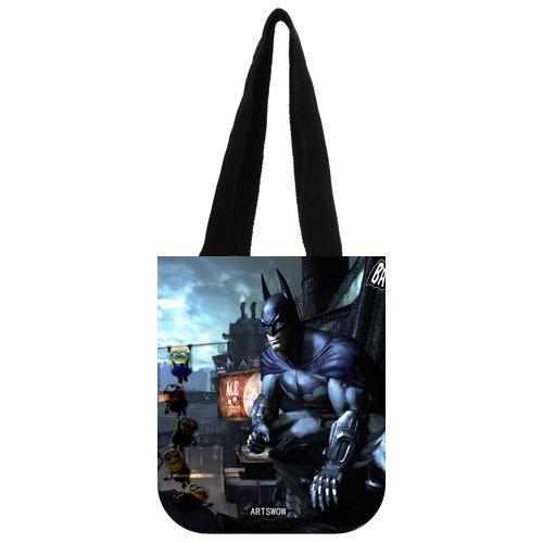 """ARTSWOW Batman, riutilizzabile, motivo: tela Eco Shopping Tote-Borsa da donna Tote, 03 (entrambi i lati), Tela, color-3, 12.2"""" x 11"""" x 3.3"""""""