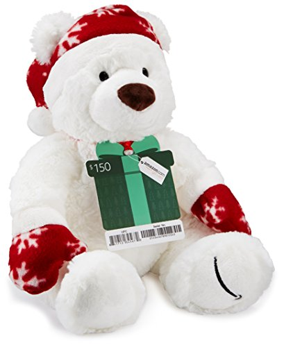 amazoncom-150-gift-card-with-a-holiday-teddy-bear-limited-edition