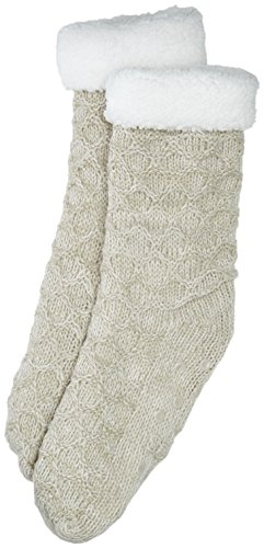 Totes Women's Chuncky Knitted  Sherpa Lining