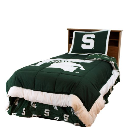 Michigan State - Comforter - Reversible Dark Design - Twin front-1075550