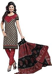 Balaji Womens Cotton Unstitched Dress Material(5121+Black+Free Size)